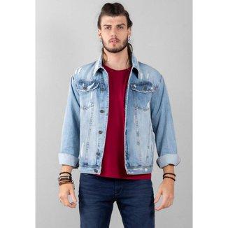 Jaqueta Cafezal Jeans Belair Oversized Masculina