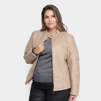 Jaqueta City Lady Plus Size PU Feminina