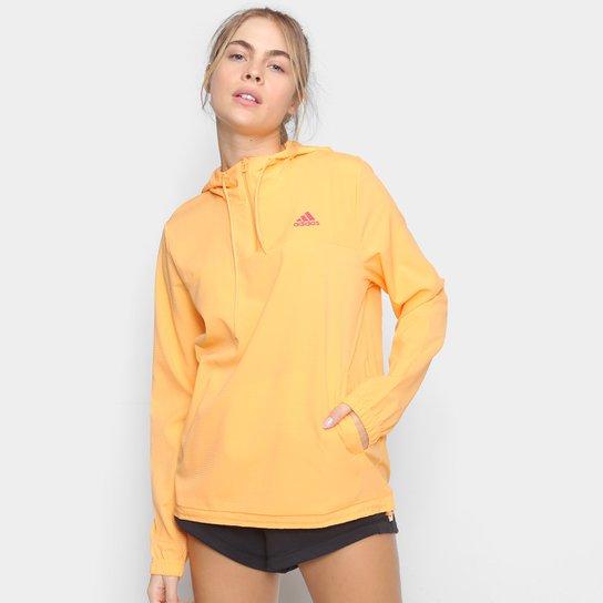 Jaqueta Corta Vento Adidas Favourites Feminina - Laranja