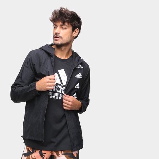 Jaqueta Corta Vento Adidas Favourites Masculina - Preto