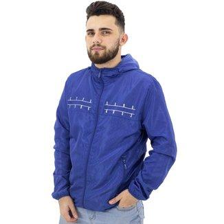 Jaqueta Corta Vento que Vira Shoulder Bag Gangster Azul