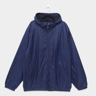 Jaqueta Corta Vento Sportwear Styles Com Capuz Plus Size Masculina