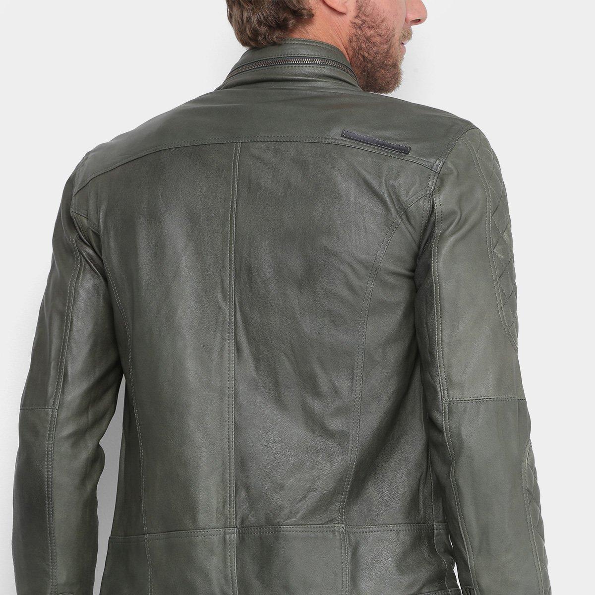 Jaqueta Couro Calvin Klein Biker Matelassê Masculina - Compre Agora ... b78a03da95