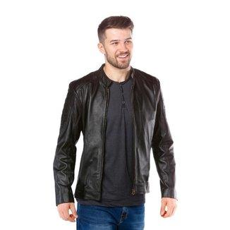 Jaqueta de Couro Pelica Javali