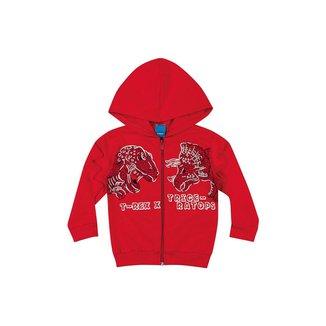 Jaqueta de Moletom Infantil Masculino Bebê T-Rex - GRAFITE - 3