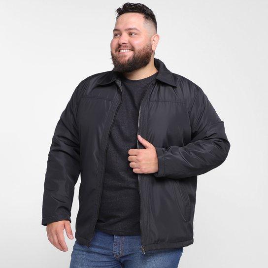 Jaqueta Fashion Apparel Nylon Plus Size Masculina - Preto