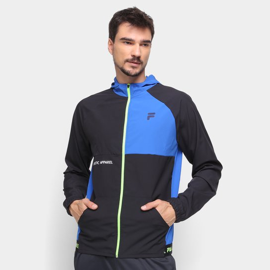 Jaqueta Fila Energy Masculina - Preto+Azul