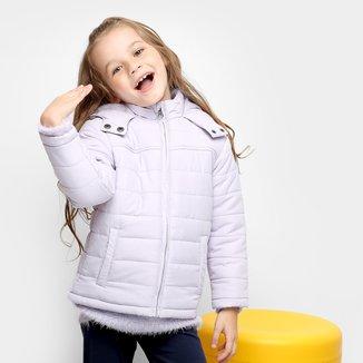 Jaqueta Infantil Zeep! Puffer Capuz Feminina
