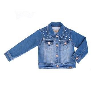 Jaqueta Jeans 1+1 Moletinho Bordado Bebê
