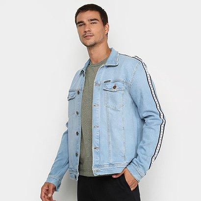 Jaqueta Jeans Calvin Klein Listras Masculina