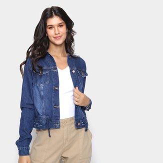 Jaqueta Jeans Cambos Amarração Feminina