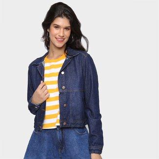 Jaqueta Jeans Cambos Cropped Feminina