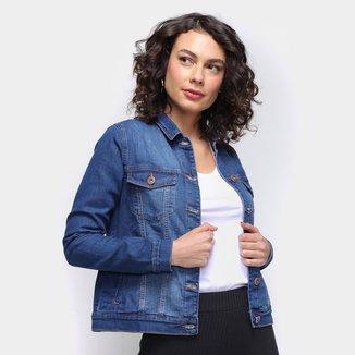 Jaqueta Jeans Dzarm Trucker Feminina