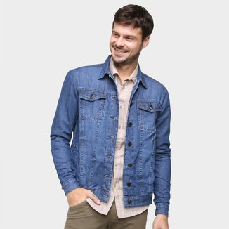 Jaqueta Jeans Ecxo Básica Puídos Masculina