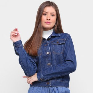 Jaqueta Jeans Ex Adverso Básica Feminina