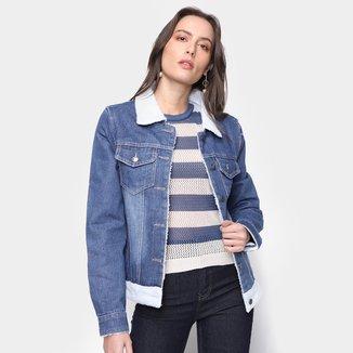 Jaqueta Jeans Extin Com Pelos Feminina