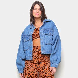 Jaqueta Jeans Farm Maxi Feminina