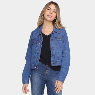 Jaqueta Jeans Gifle Básica Tradicional Feminina