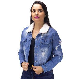 Jaqueta Jeans Girl Power Naraka Feminina