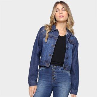 Jaqueta Jeans Grifle Tradicional Feminina
