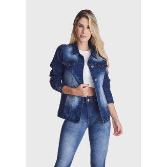 Jaqueta Jeans HNO Jeans Stone Used Azul