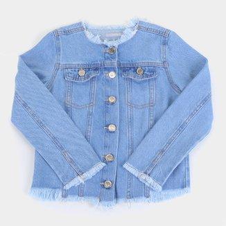 Jaqueta Jeans Infantil Hering Puídos Feminina
