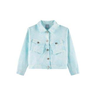 Jaqueta Jeans Infantil Hering Tie Dye Feminina