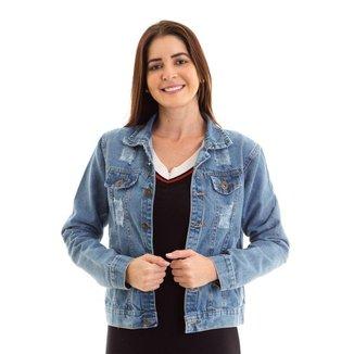 Jaqueta Jeans Kassis  Feminina