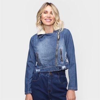 Jaqueta Jeans Naraka Com Pelo Feminina