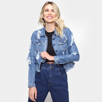 Jaqueta Jeans Naraka Destroyed Feminina
