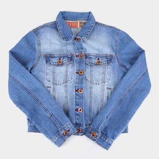 Jaqueta Jeans Oh Boy Básica Estonada Feminina