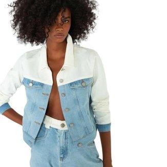 Jaqueta Jeans Slywear Bicolor