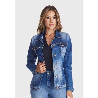 Jaqueta Jeans Zuren Premium Botões Azul