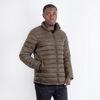 Jaqueta masculina com zíper forrada 90076