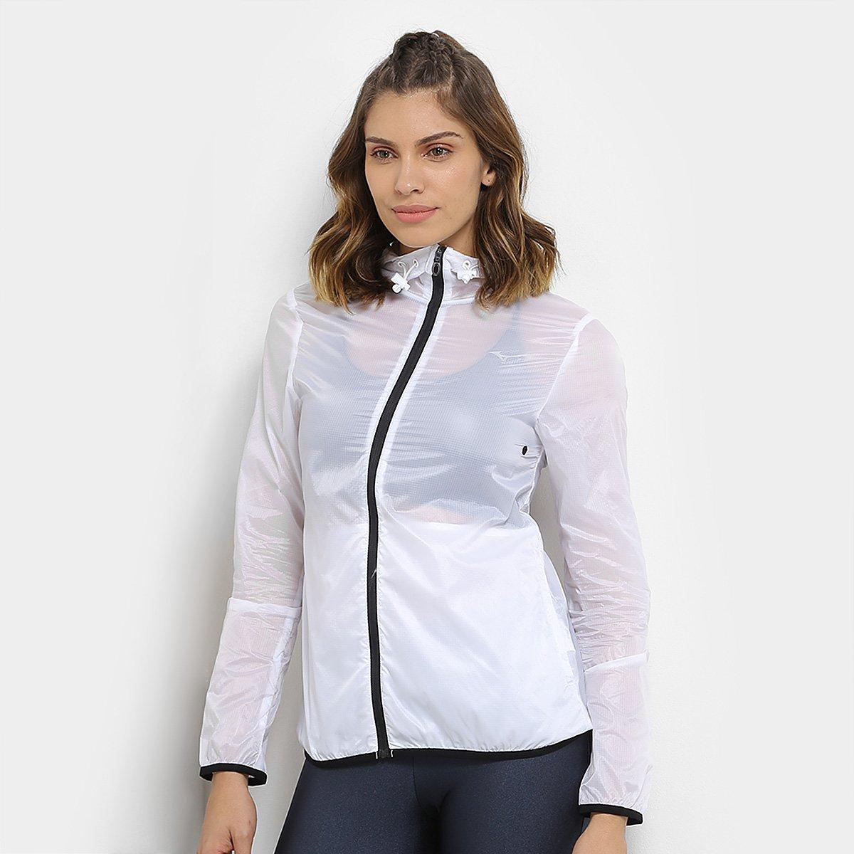 Jaqueta Mizuno Run Fast Feminina - Branco e Preto - Compre Agora ... fecb5d5de2152