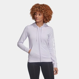 Jaqueta Moletom Adidas Linear Essentials Feminina