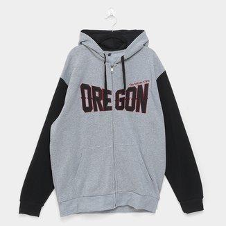 Jaqueta Moletom Athletic Jacket Oregon Plus Size Masculina