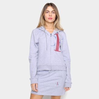 Jaqueta Moletom Calvin Klein Logo Feminina