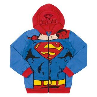 Jaqueta Moletom Infantil Marlan Superman Felpado Com Capuz