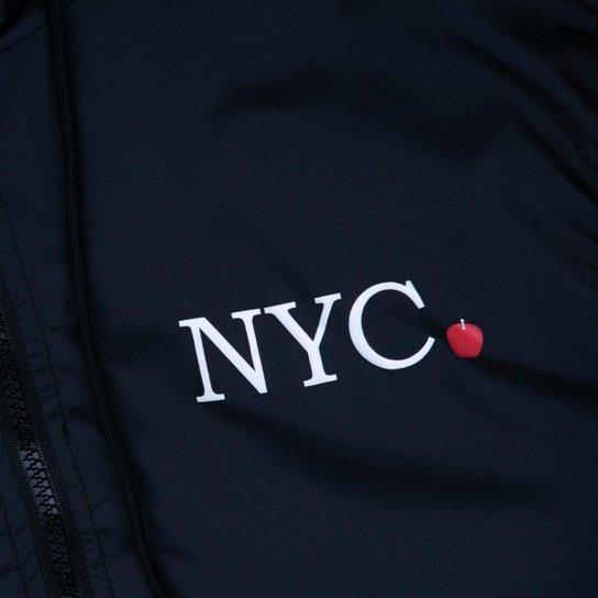 Jaqueta New Era Feminina Corta Vento (Windbreaker) NYC - Preto+Vermelho