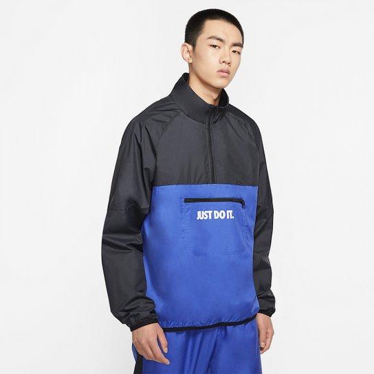 Jaqueta Nike Sportswerar JDI WVN SSNL Masculina - Preto+Azul