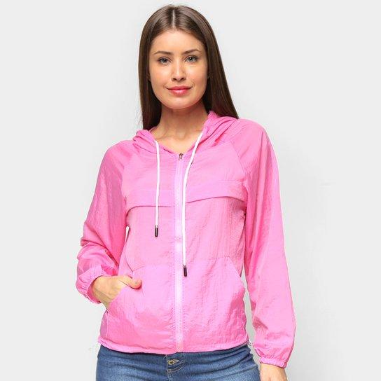 Jaqueta Nylon Road Mel Com Capuz Feminina - Pink