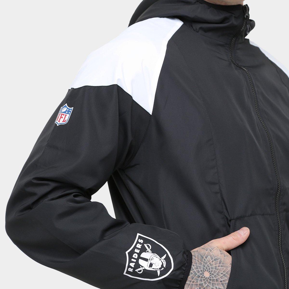 0a3d7f8313 Jaqueta Oakland Raider New Era NFL Windbreaker Masculina - Compre ...