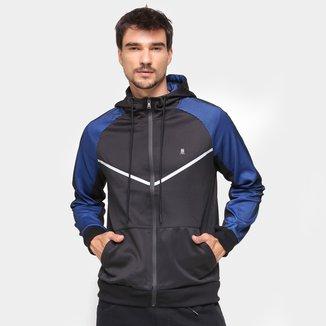 Jaqueta Polo Wear Bicolor Com Capuz Masculina