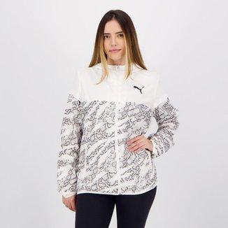 Jaqueta Puma Corta Vento Essentials Feminina Branca