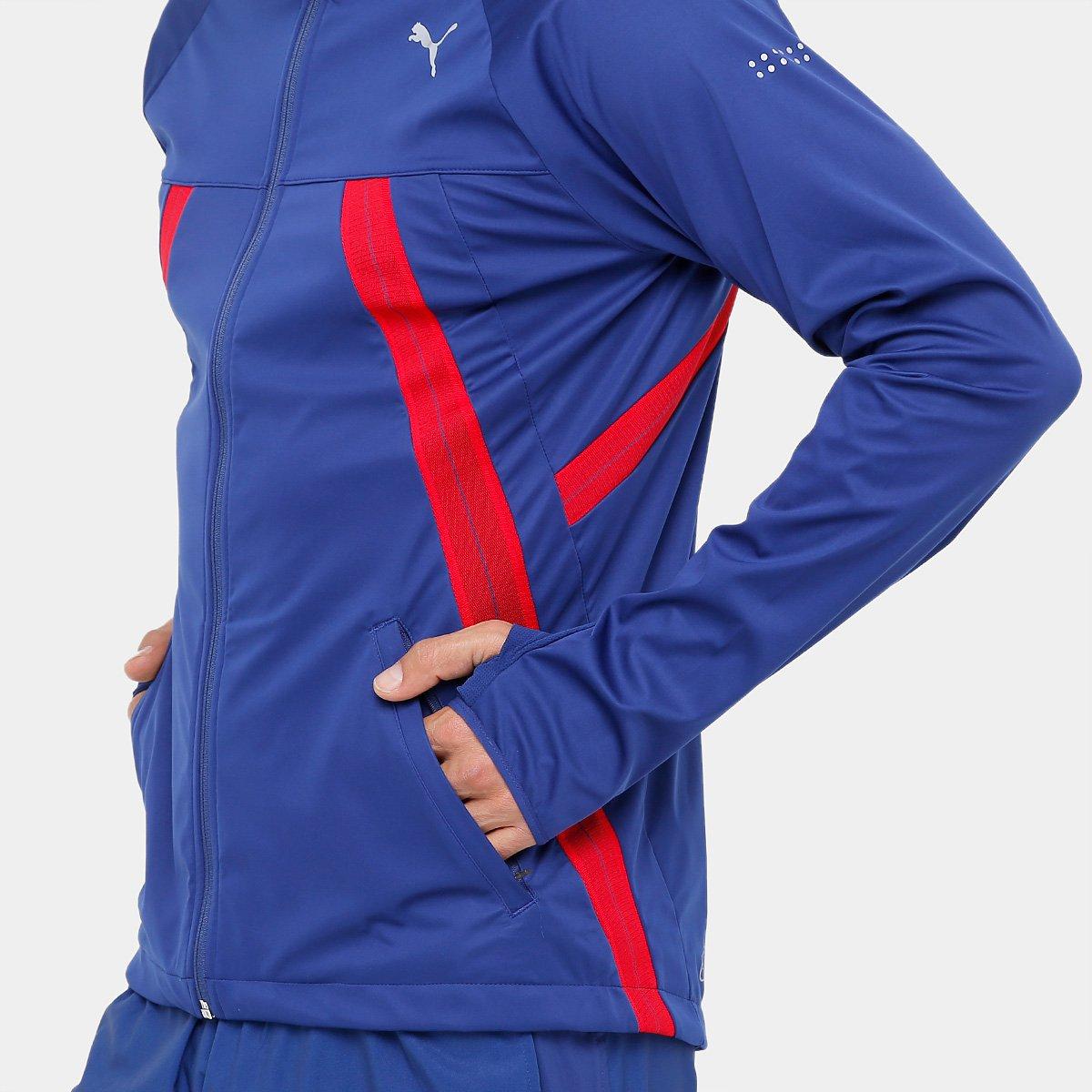 Jaqueta Puma Vent Thermo Runner Masculina - Azul e Vermelho - Compre ... 667a10dc49