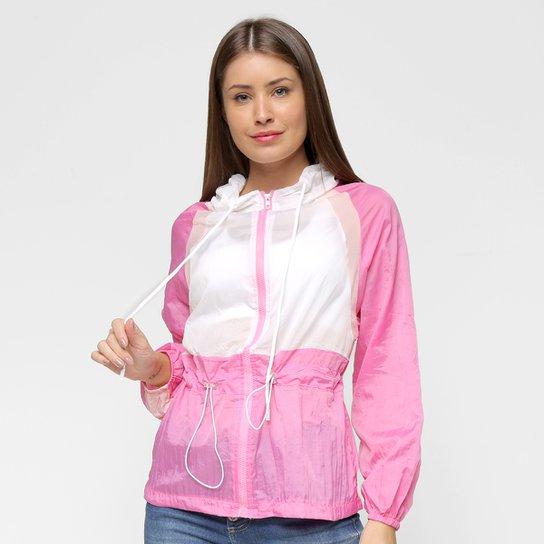 Jaqueta Road Mel Nylon Capuz Bolso Frontal Feminina - Pink