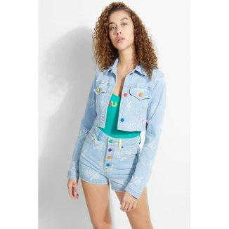 Jaqueta Talia Cropped Jacket laya Blue  Feminina