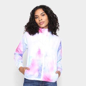 Jaqueta Wall Corta Vento Tie Dye Com Capuz Feminina