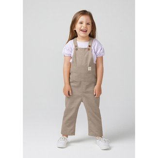 Jardineira Infantil  Veludo Cotelê Toddler
